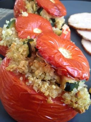 Tomates farcies quinoa courgettes