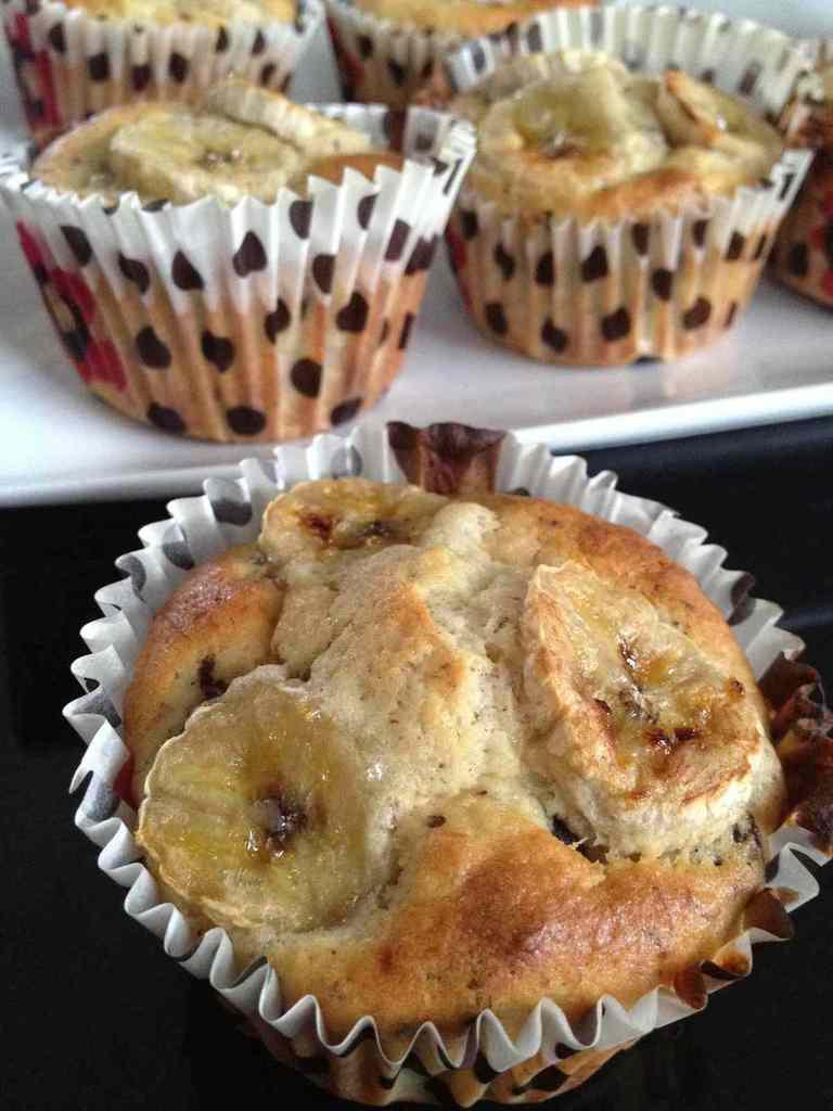 Muffins bananes chocolat