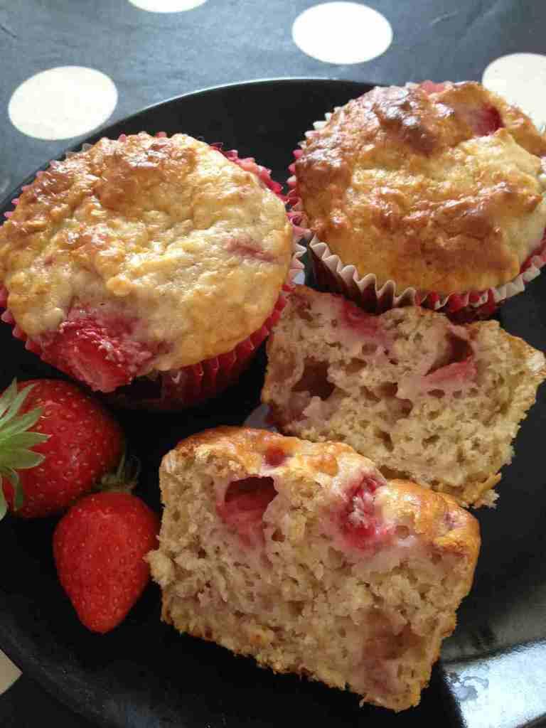 Muffins fraises bananes