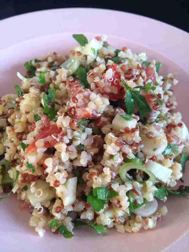 salade libanaise quinoa boulgour rachel cuisine. Black Bedroom Furniture Sets. Home Design Ideas