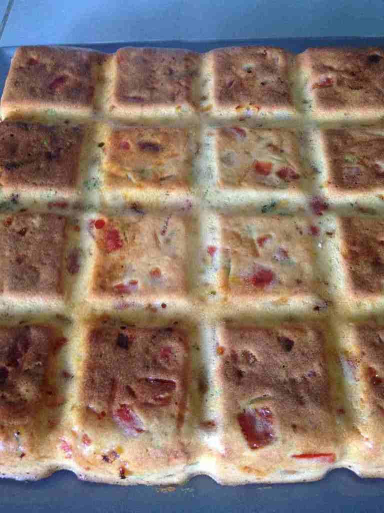 Cake poivron, chorizo et coriandre