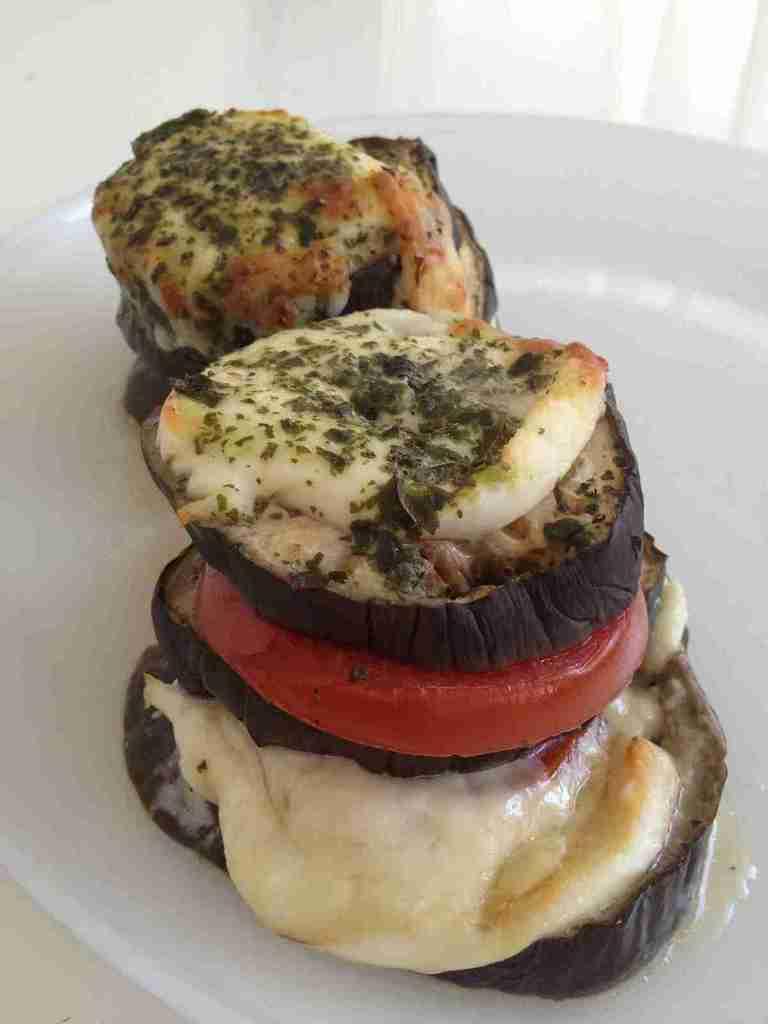 Millefeuille aubergine, tomate et mozzarella