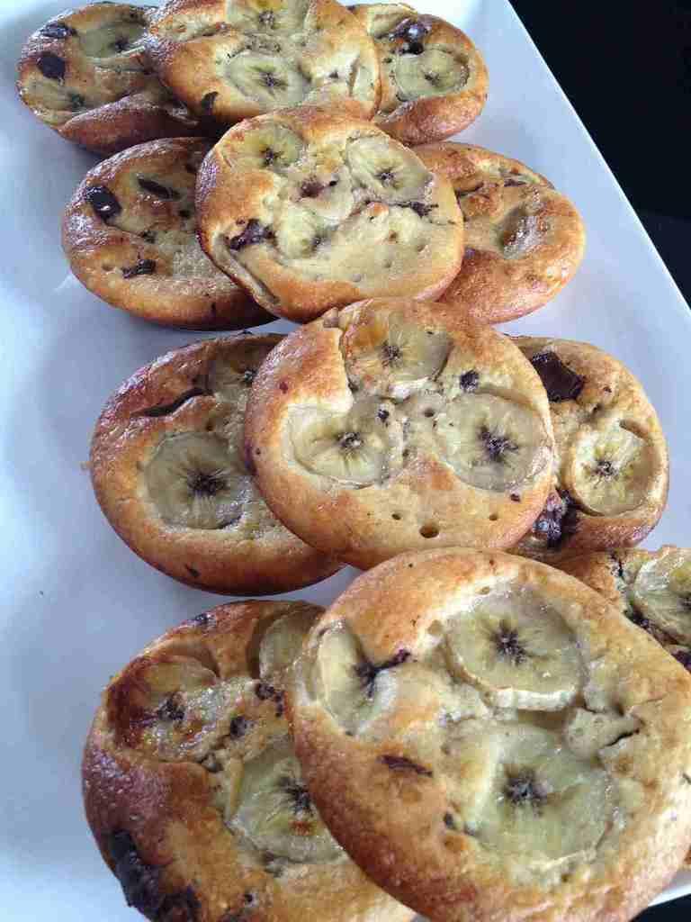 Tartelettes sans pâte bananes chocolat