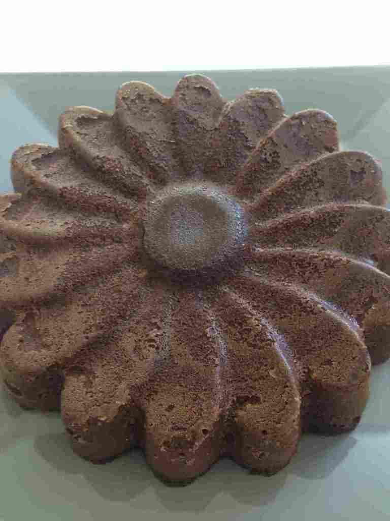 Gâteau fondant au chocolat au micro ondes