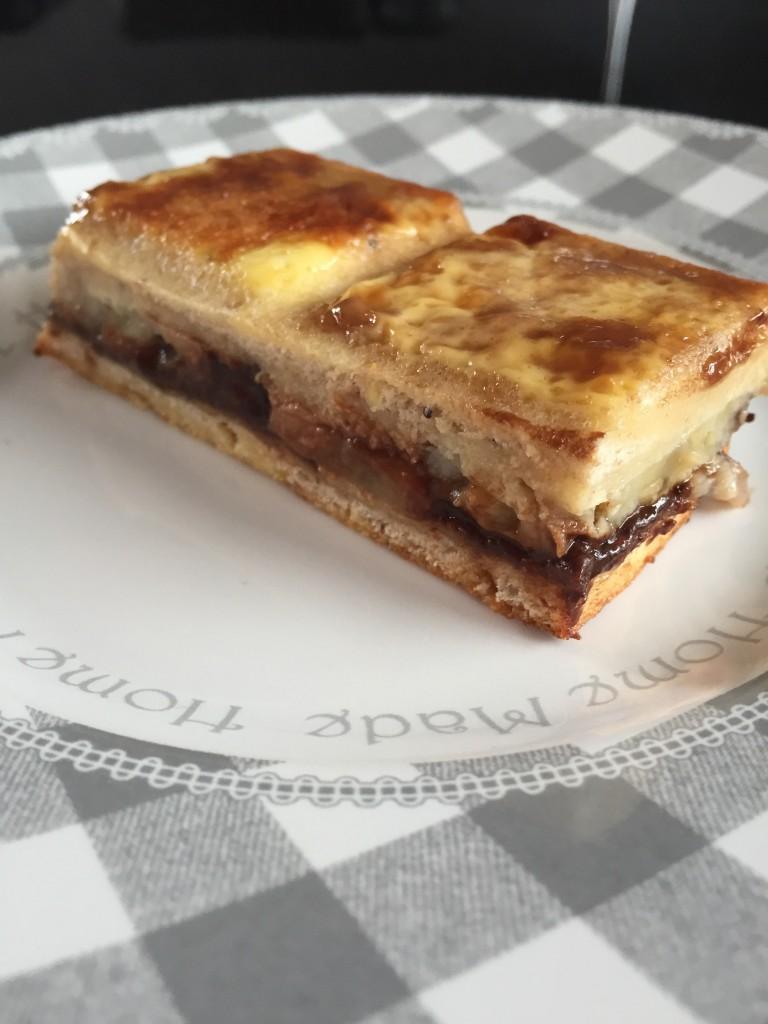 Croque tablette bananes chocolat