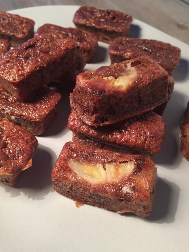 Minis fondants chocolat banane sans gluten