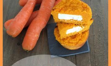 Petits flans carottes,coeur Kiri