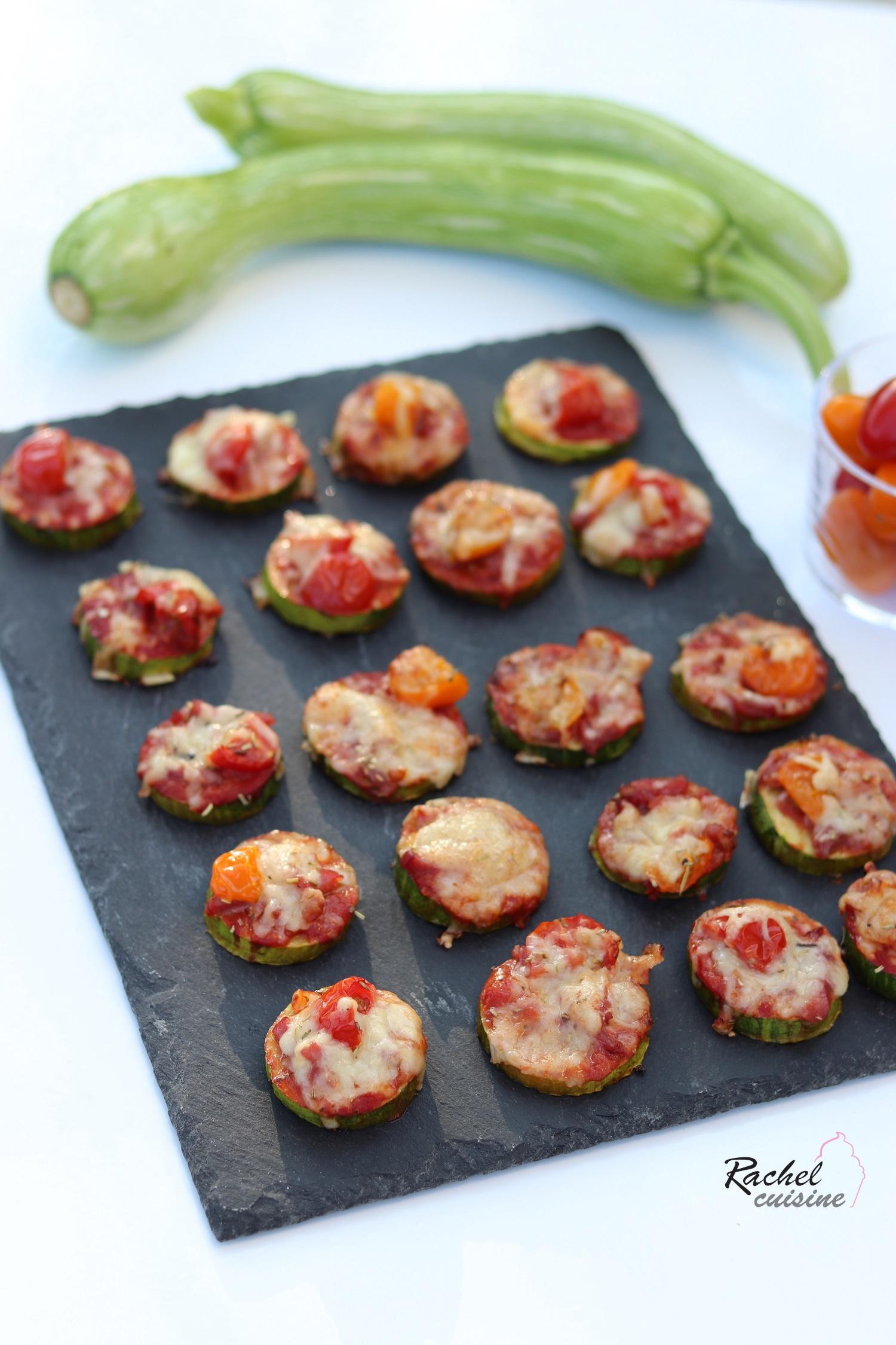 Ma Cuisine Vos Envies minis pizzas de courgettes - rachel cuisine