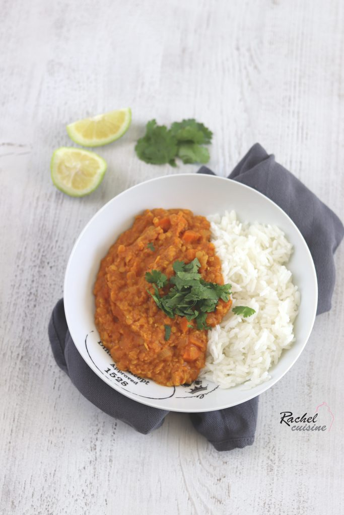 Lentilles corail coco curry