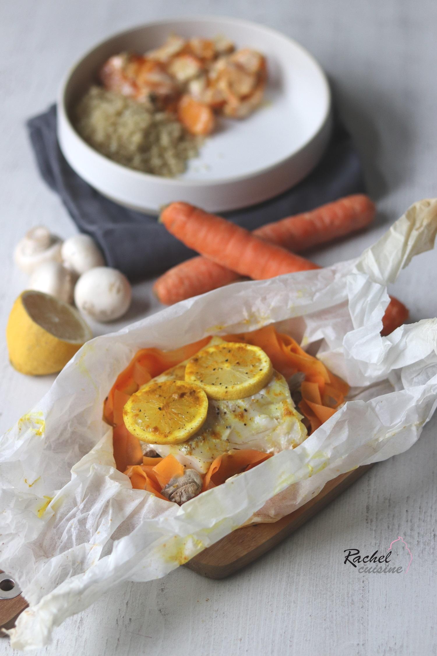 Papillote De Poisson Legumes Curry Rachel Cuisine
