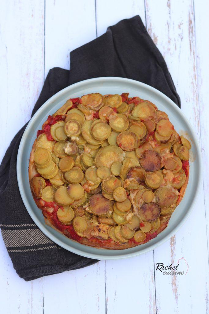 Tarte tatin courgettes, tomates et poivrons